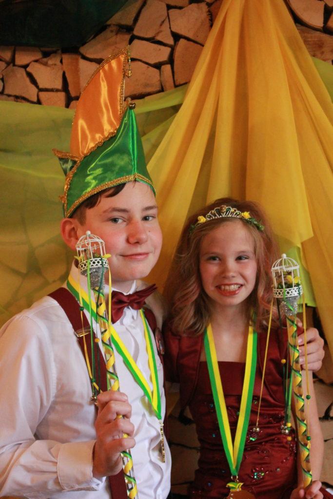 Kinderprinzenpaar Vanessa I. und Fabian I.